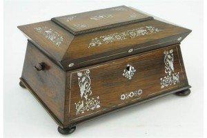 rosewood work box