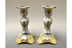 earthenware table candlesticks