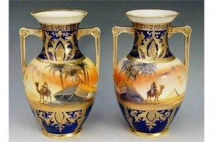 handled vases