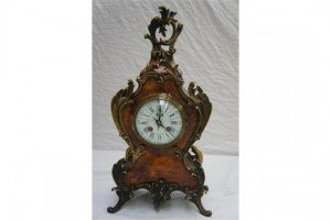 tortoiseshell striking mantel clock