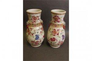 enamel porcelain vases