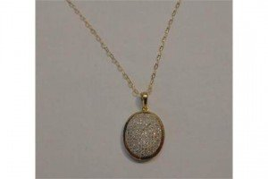 Gold Pendant Set Diamonds