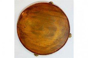 circular mahogany tray