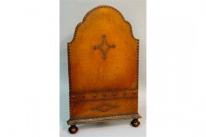 leather fire screen