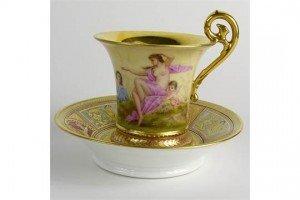porcelain portrait cup