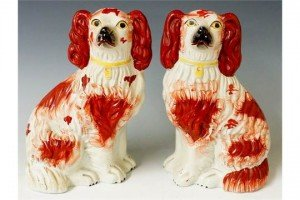 pottery spaniels