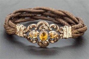 citrine hair bracelet