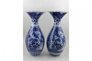 porcelain baluster vases