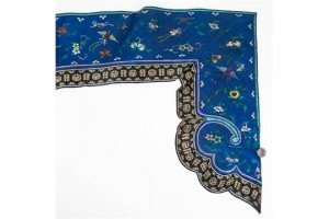 embroidered silk table pelmet