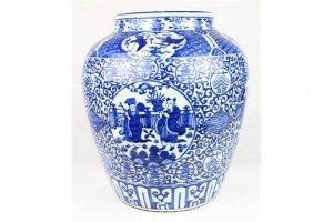underglaze blue porcelain jar
