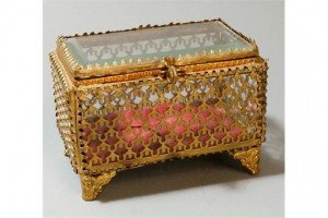 cased glass jewellery box