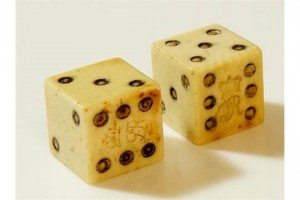 pair of ivory dice