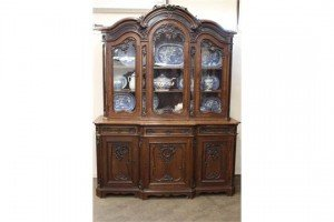 oak bookcase-cabinet