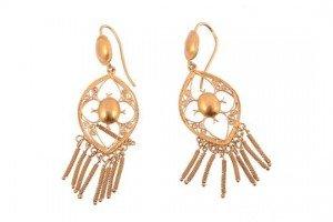 filigree ear pendants