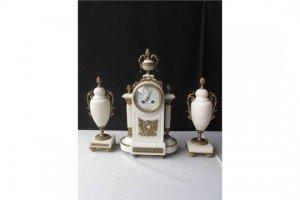 marble clock garniture