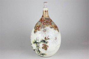Satsuma pottery bottle