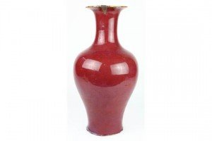 flambe glazed vase