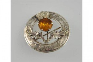 citrine brooch