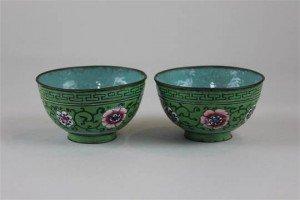 cloisonné bowls