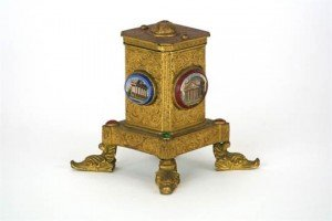 gilt metal dispenser