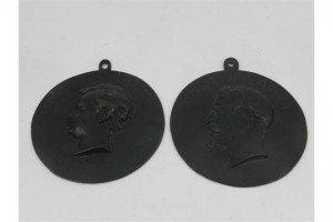 circular bronze plaque