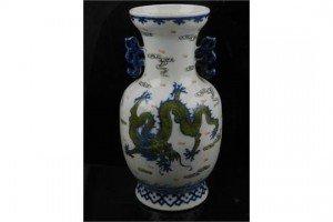 porcelain baluster vase