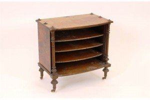 bow front music cabinet