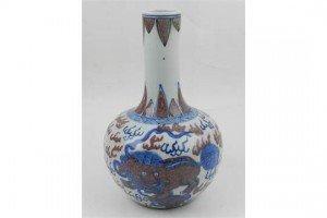 long neck bottle vase