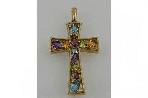 cross-shaped pendant