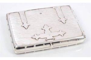 Edwardian silver card case