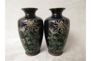 cloisonné shouldered vases