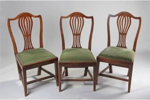 fruitwood and ash chairs