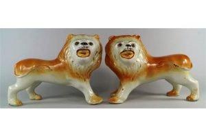 pottery lions