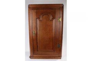 oak hanging corner cabinet