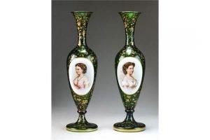 glass portrait vases