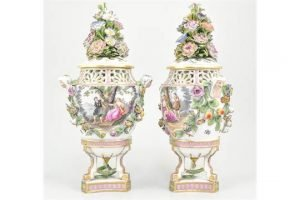 urn shaped vases