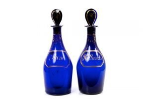 blue decanters