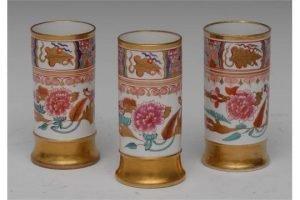 Imari cylindrical vases