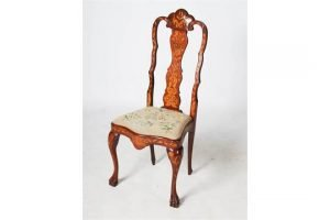 inlaid side chair