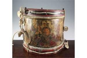 military brass drum