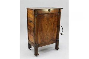 mahogany barrel organ