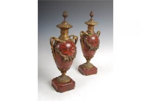 marble twin handled urns