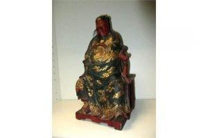 wood temple figure