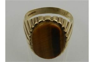 tigers eye gents ring