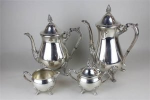 plated tea set