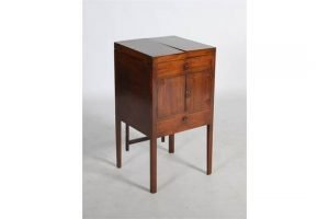 boxwood lined wash stand