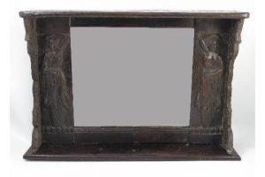 oak framed wall mirror