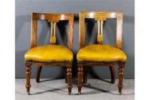 mahogany framed dining chairs
