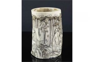 ivory brush pot
