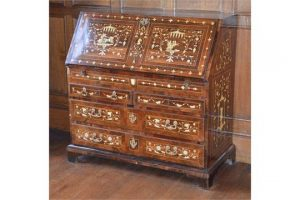 gilt metal mounted bureau